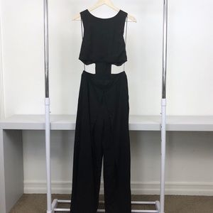 NWT Re:named Black Cutout Keyhole Layered Jumpsuit